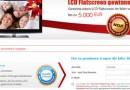 LCD Flatscreen Gewinnspiel