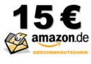 Gewinne einen 15 €-Einkaufsgutschein von Amazon